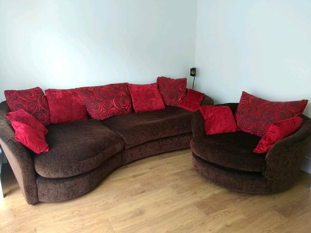Large Corner Sofa And Cuddle Chair   In Manchester   Gumtree Within Oversized Sofa Chairs (View 10 of 15)