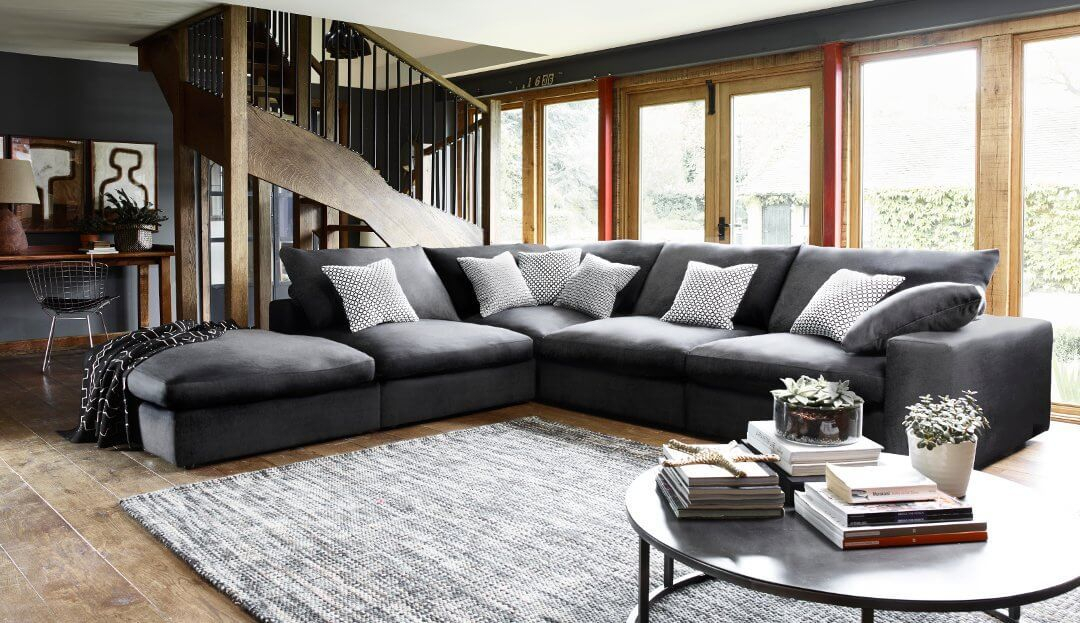 Large Deep Seated Sectional Sofa Tall People | Chaise Design Pertaining To Extra Large Sectional Sofas (View 4 of 15)