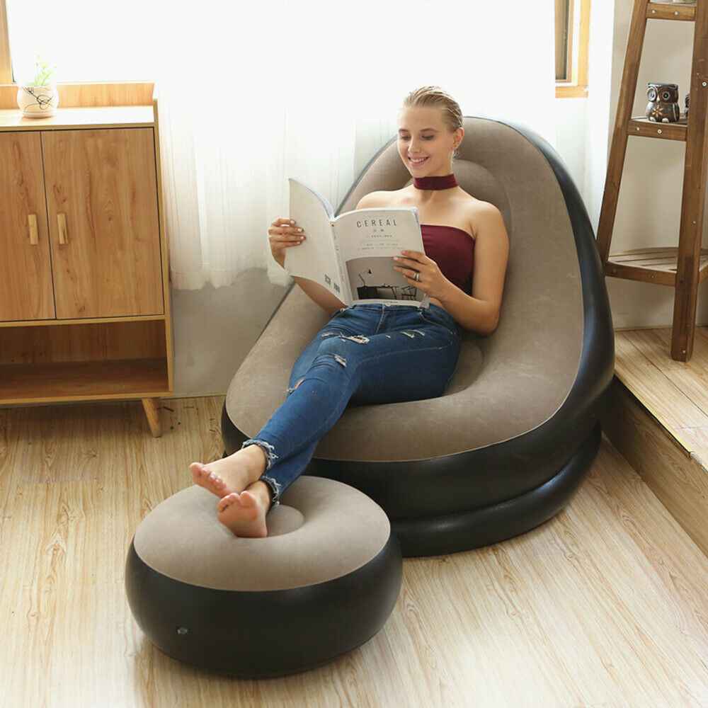 Large Deluxe Inflatable Cushion Lounger Adult Bean Bag For Inflatable Sofas And Chairs (View 1 of 15)