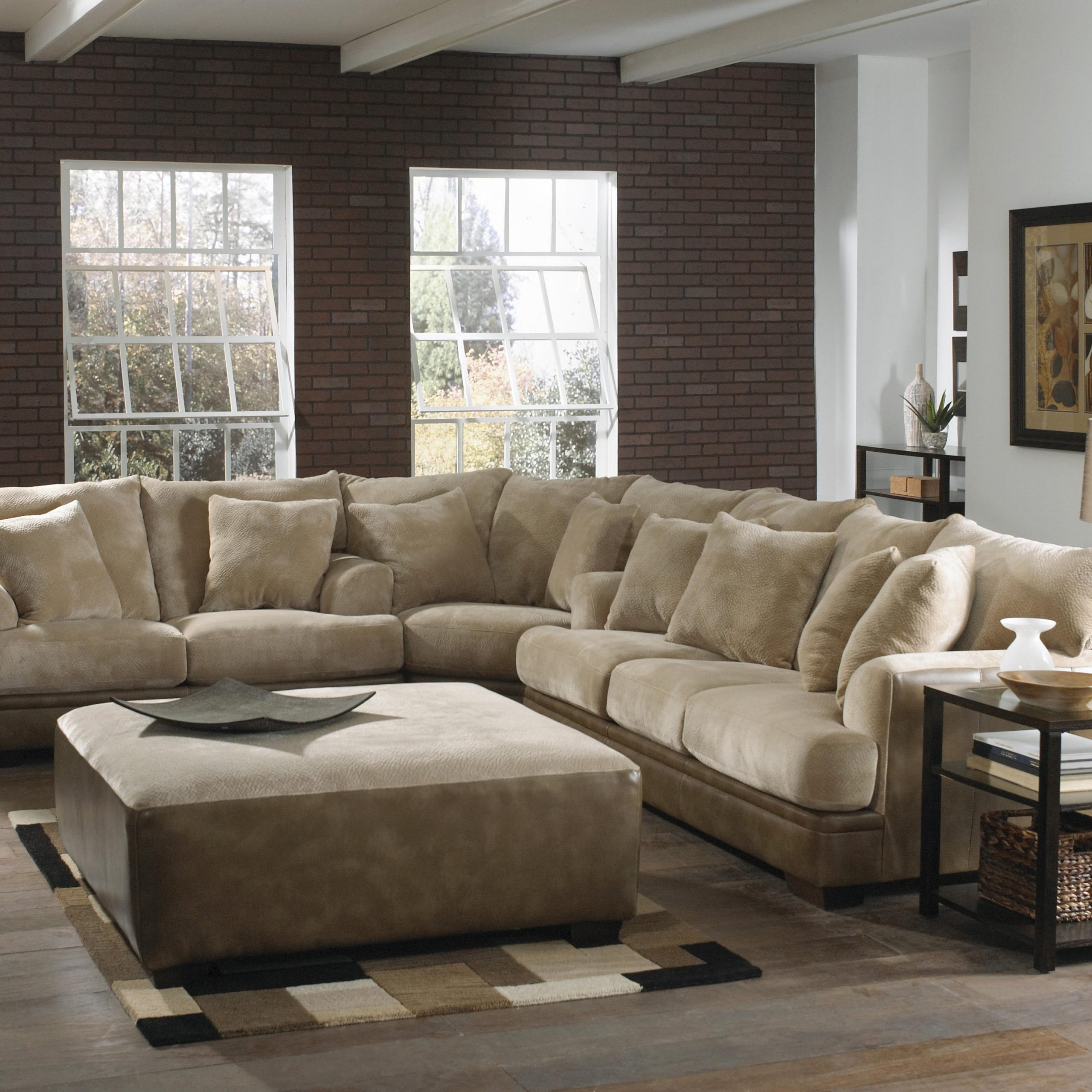 Large L Shaped Sectional Sofa With Left Side Loveseat Pertaining To Wide Sofa Chairs (View 10 of 15)