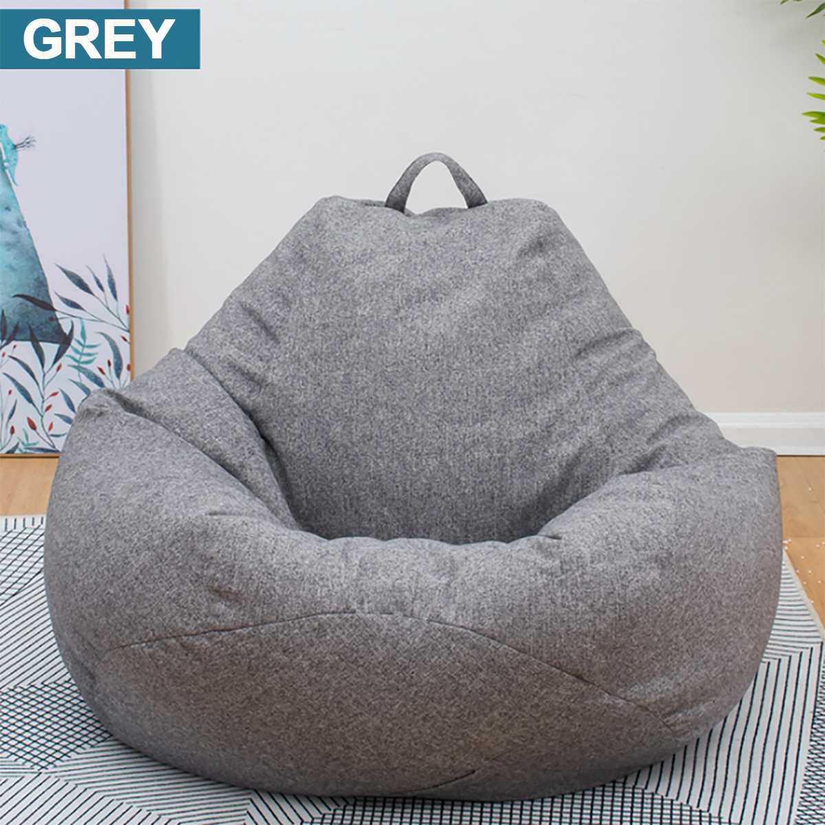 Large Small Lazy Beanbag Sofas Cover Chairs Without Filler With Regard To Bean Bag Sofas And Chairs (Photo 8 of 15)