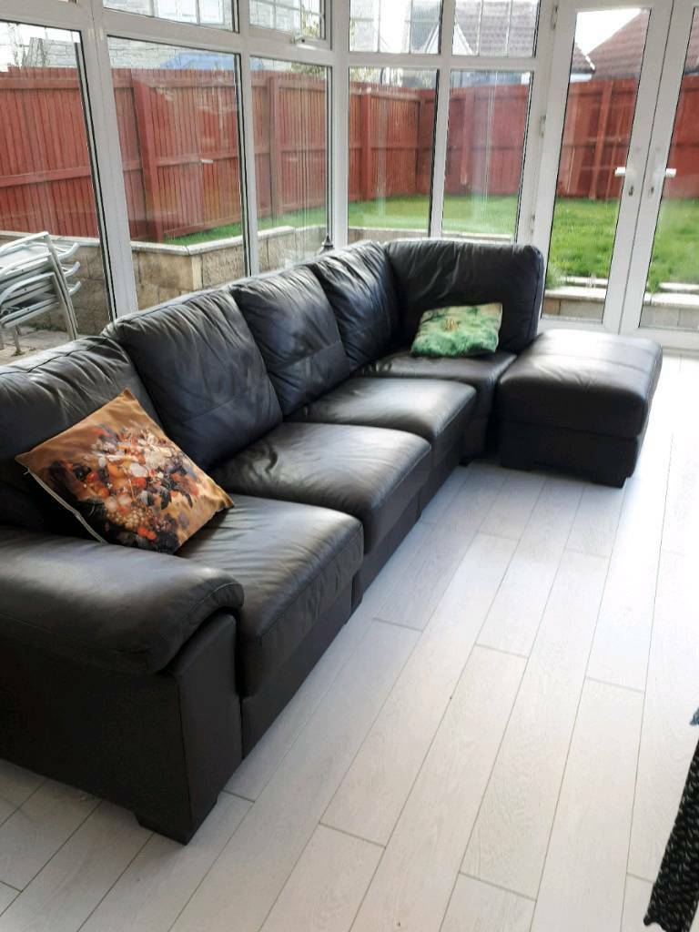 Leather 4 Seater Sofa For Sale | In Newmachar, Aberdeen Regarding 4 Seater Sofas (View 8 of 15)