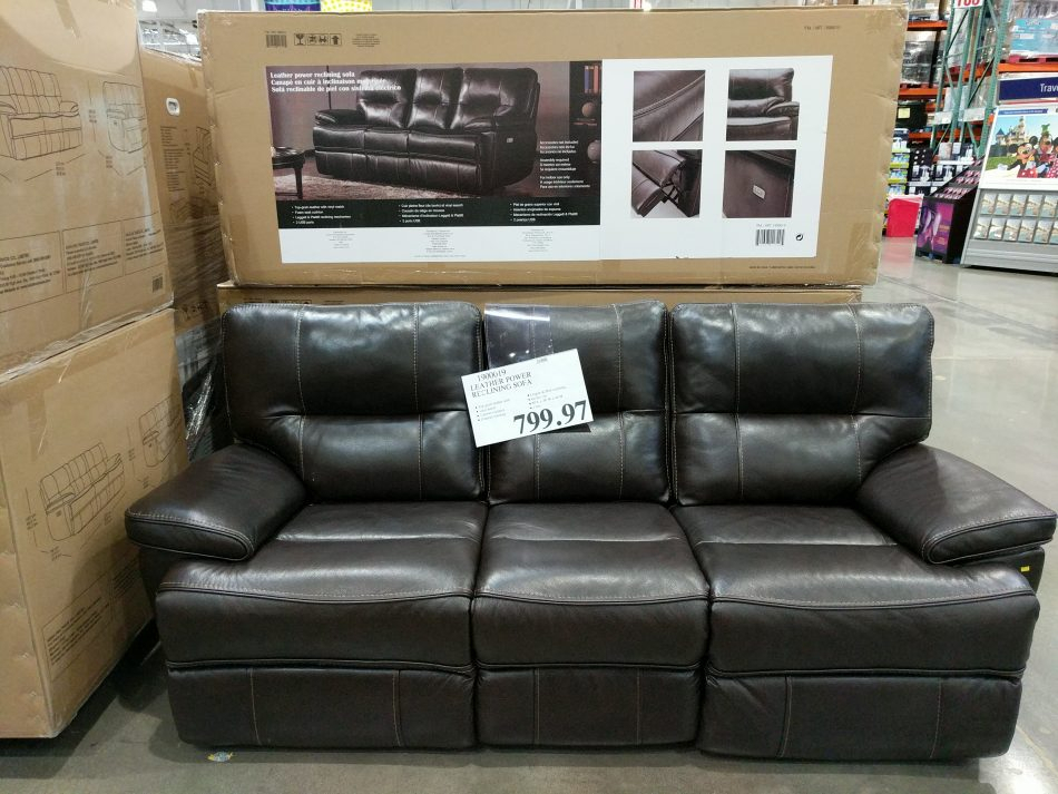 Leather Power Reclining Sofa | Costco97 For Raven Power Reclining Sofas (View 11 of 15)