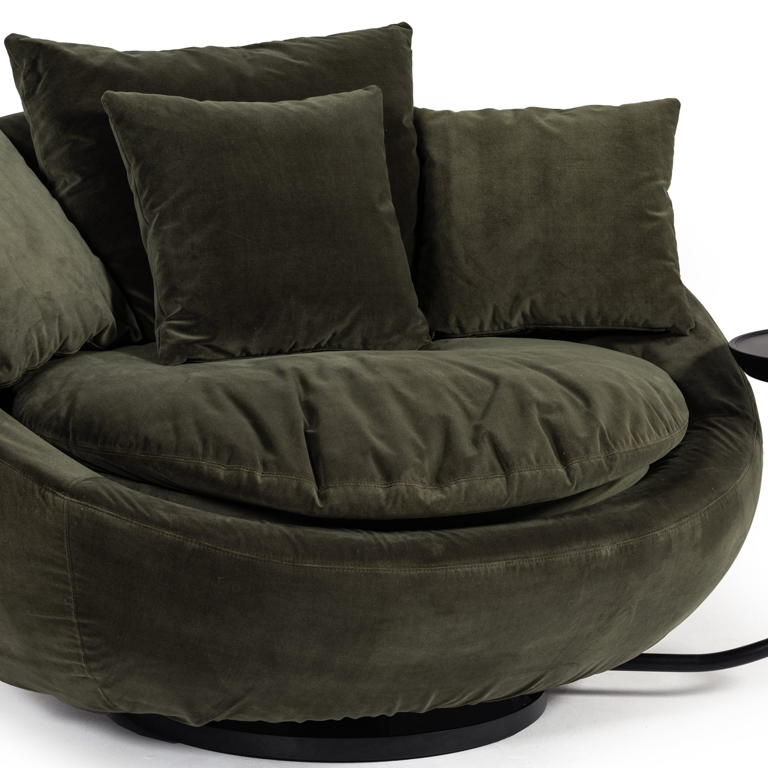 Lennox Round Swivel Chair   Chair Design With Regard To Swivel Sofa Chairs (View 14 of 15)