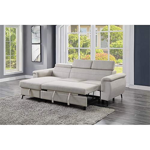 Lexicon Cadence Microfiber Reversible Sectional Sofa In Throughout Harmon Roll Arm Sectional Sofas (View 9 of 15)