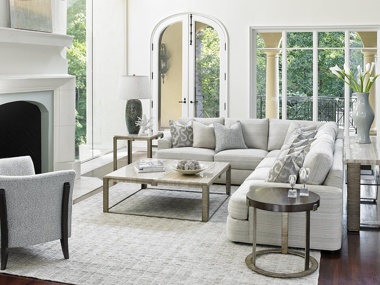 Lexington Laurel Canyon Halandale Two Piece Sectional Sofa Regarding Laurel Gray Sofas (View 14 of 15)