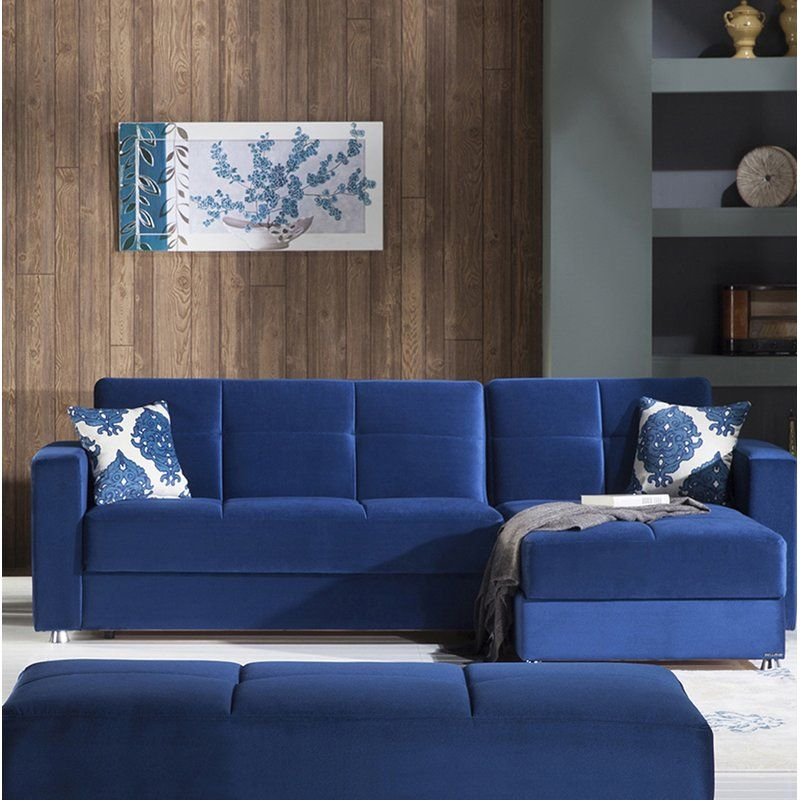 Lieberman Reversible Sleeper Sectional | Moveis Within Copenhagen Reversible Small Space Sectional Sofas With Storage (View 14 of 15)