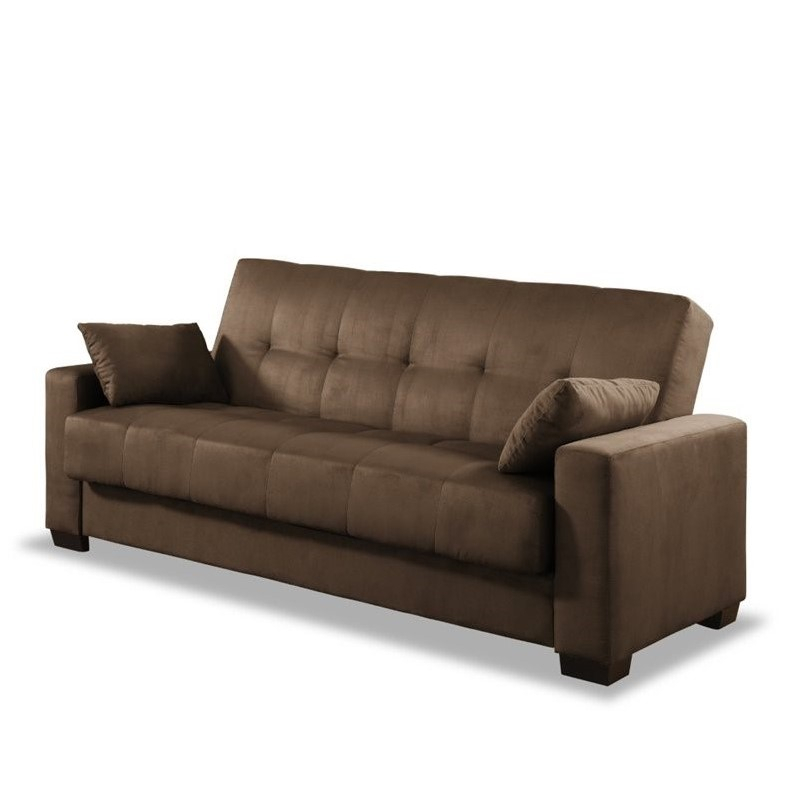 Lifestyle Solutions Napa Casual Convertible Sofa In Java Regarding Convertible Sectional Sofas (View 11 of 15)