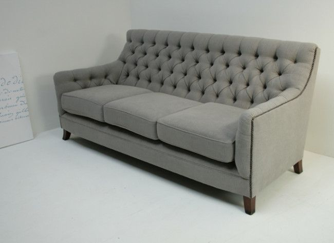 Light Gray Randolph Sofa With Nailhead Trim (1 Intended For Radcliff Nailhead Trim Sectional Sofas Gray (View 9 of 15)