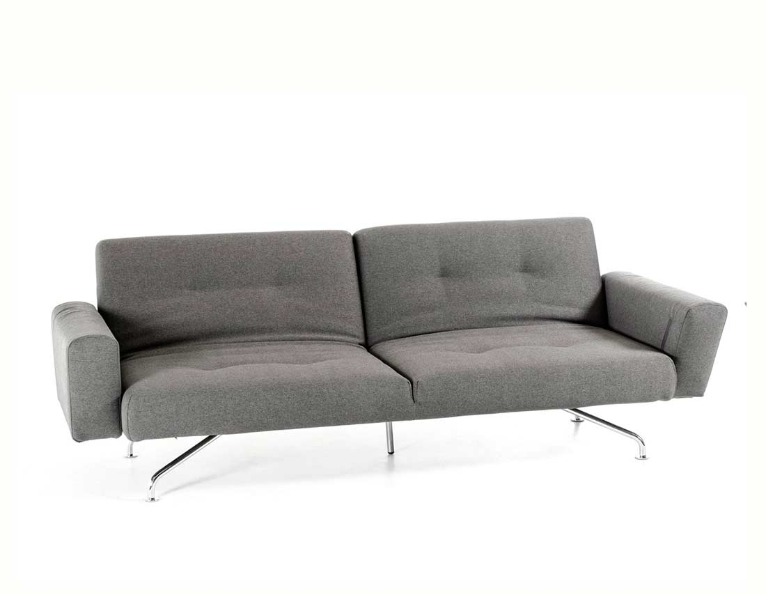 Light Grey Fabric Sofa Bed Vg233 | Sofa Beds With Regard To Ludovic Contemporary Sofas Light Gray (View 14 of 15)