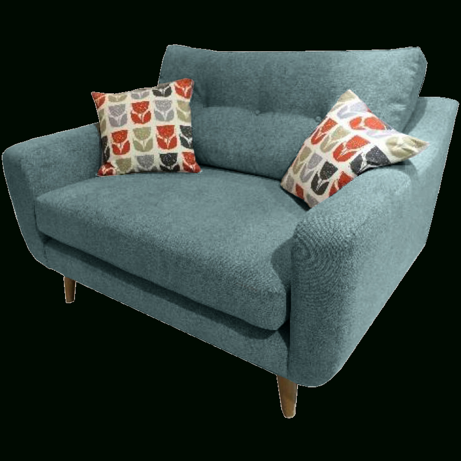 Lisbon Snuggler Sofa Chairwhitemeadow With 4Pc French Seamed Sectional Sofas Oblong Mustard (View 5 of 15)