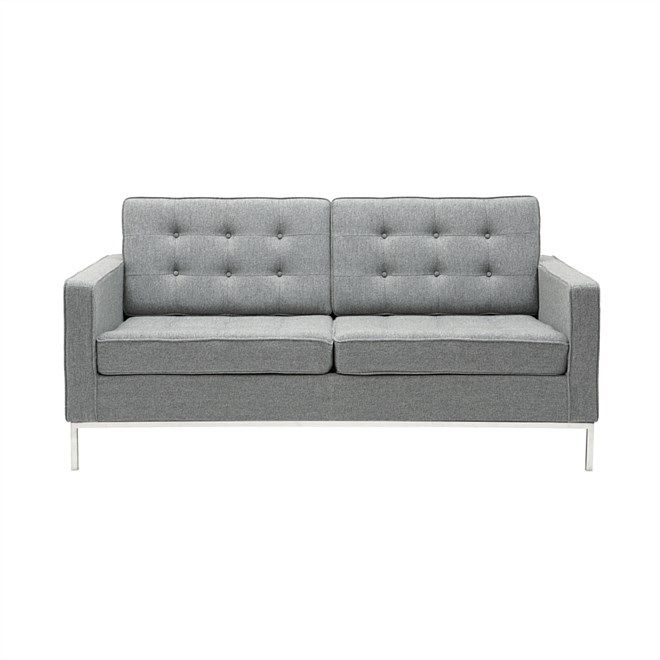 Living, Replica Florence Knoll 2 Seat Sofa   Sofa Pertaining To Florence Knoll Fabric Sofas (View 6 of 15)