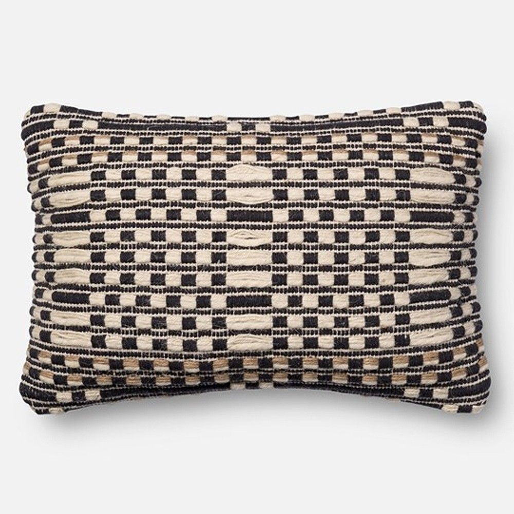 Loloi Magnolia Home Pillow – Black/Tan | Magnolia Home Pertaining To Magnolia Sectional Sofas With Pillows (View 13 of 15)