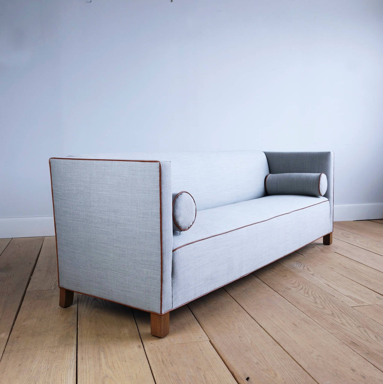 Long Danish 1930S Sofa Upholstered In Wool And Leather At Regarding 1930S Sofas (View 9 of 15)