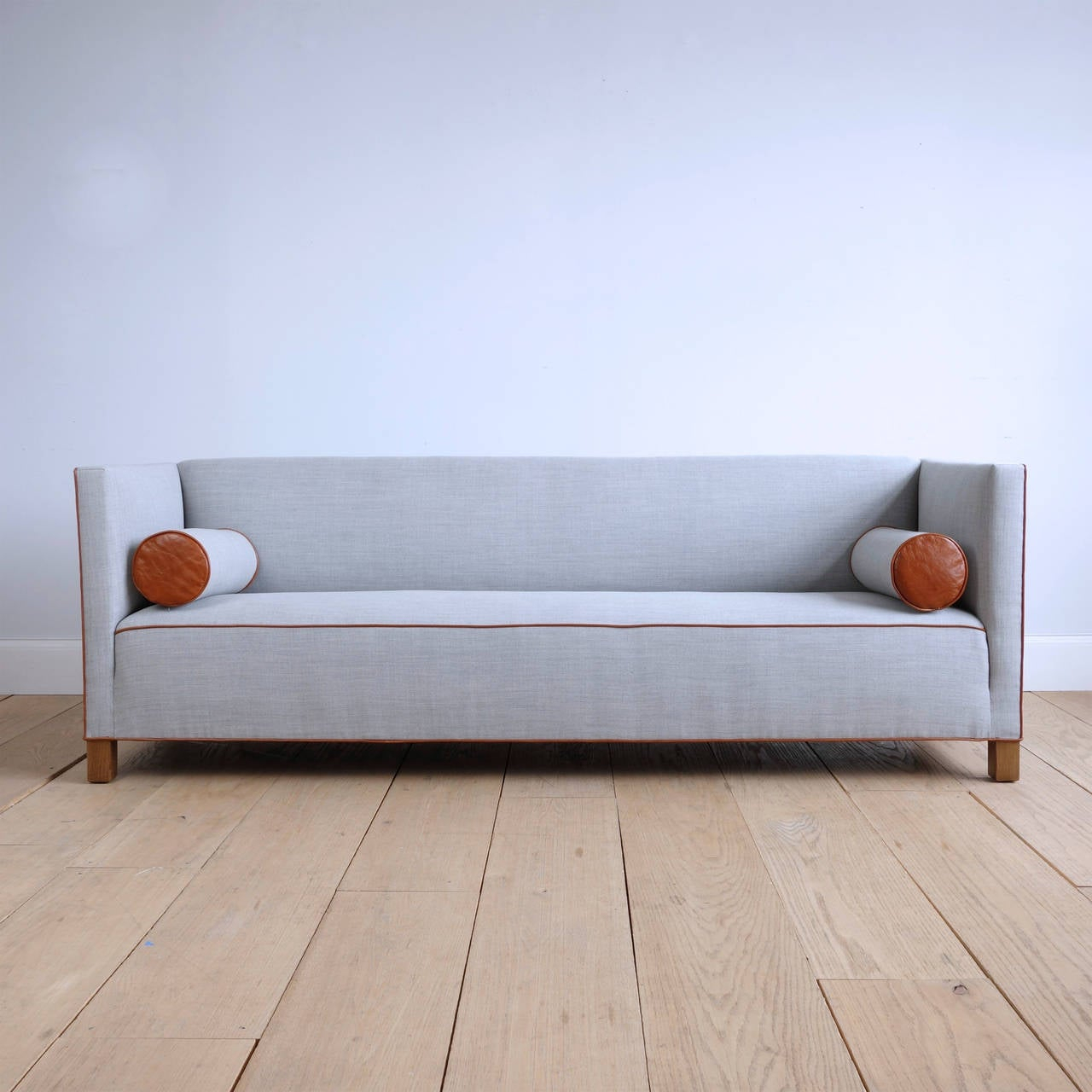 Long Danish 1930S Sofa Upholstered In Wool And Leather At With Regard To 1930S Sofas (Photo 6 of 15)