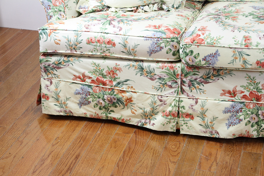 Lot Detail – Chintz Upholstered Sofa Throughout Chintz Covered Sofas (View 13 of 15)