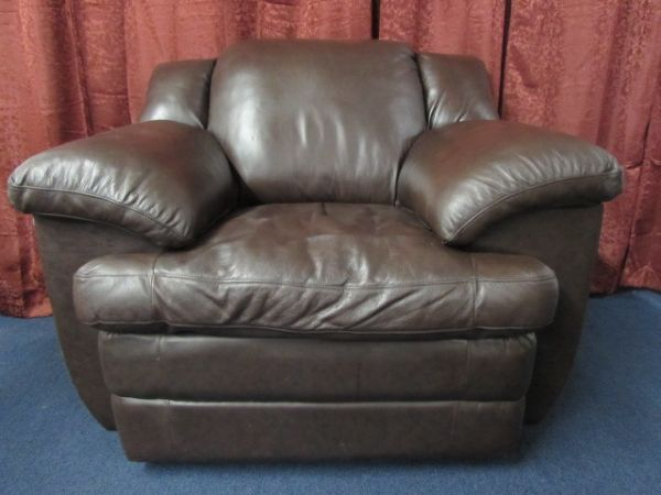 Lot Detail – Overstuffed Leather Chair With Overstuffed Sofas And Chairs (View 5 of 15)