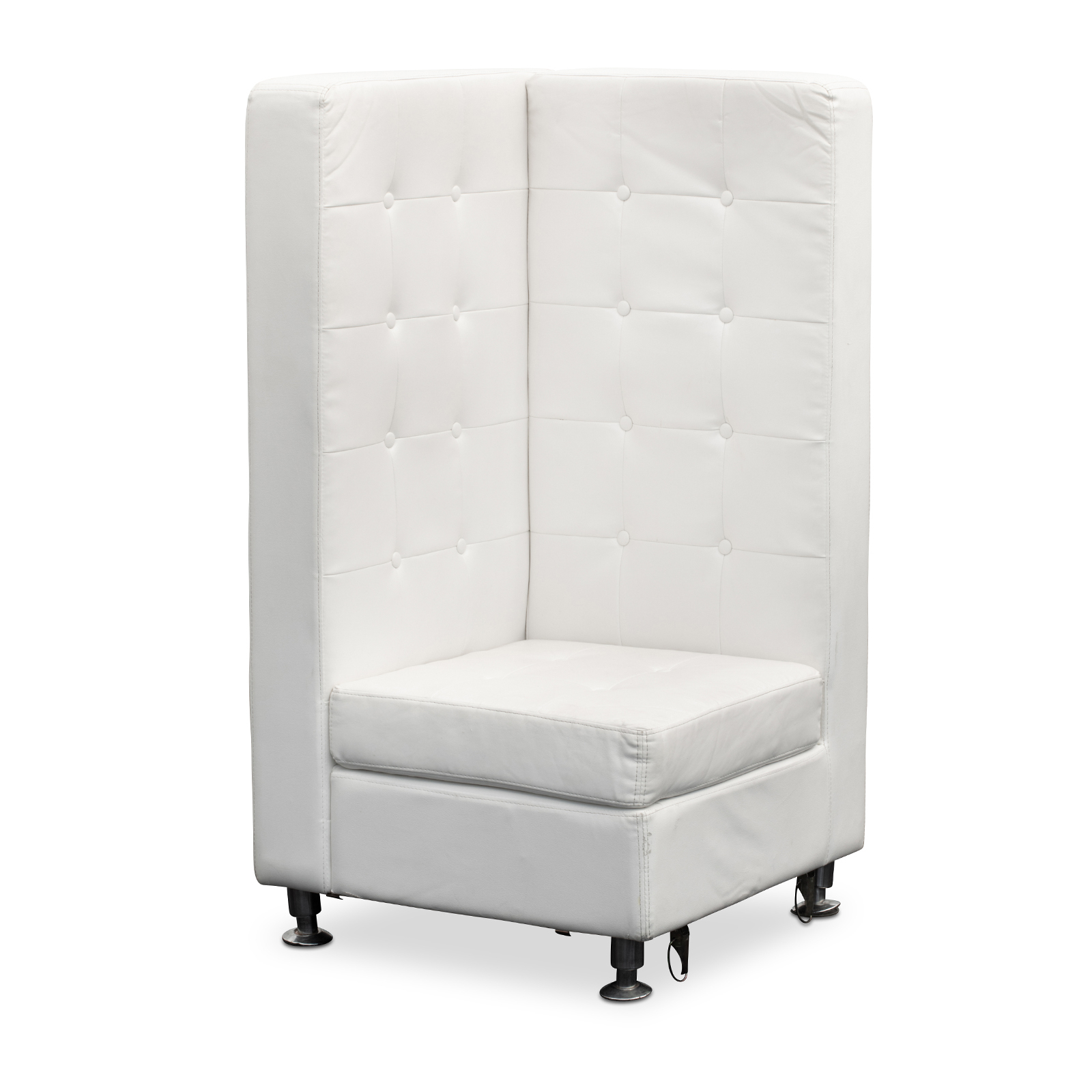 Lounge Furniture : High Back Tufted Sofa, Corner, White With Regard To Sofas With High Backs (View 11 of 15)