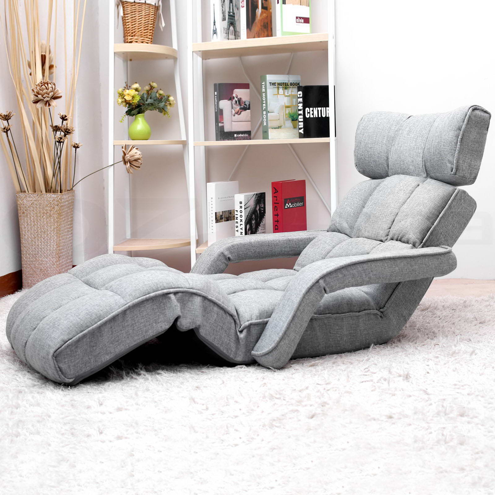 Lounge Sofa Bed Floor Armchair Folding Recliner Chaise Intended For Folding Sofa Chairs (View 14 of 15)