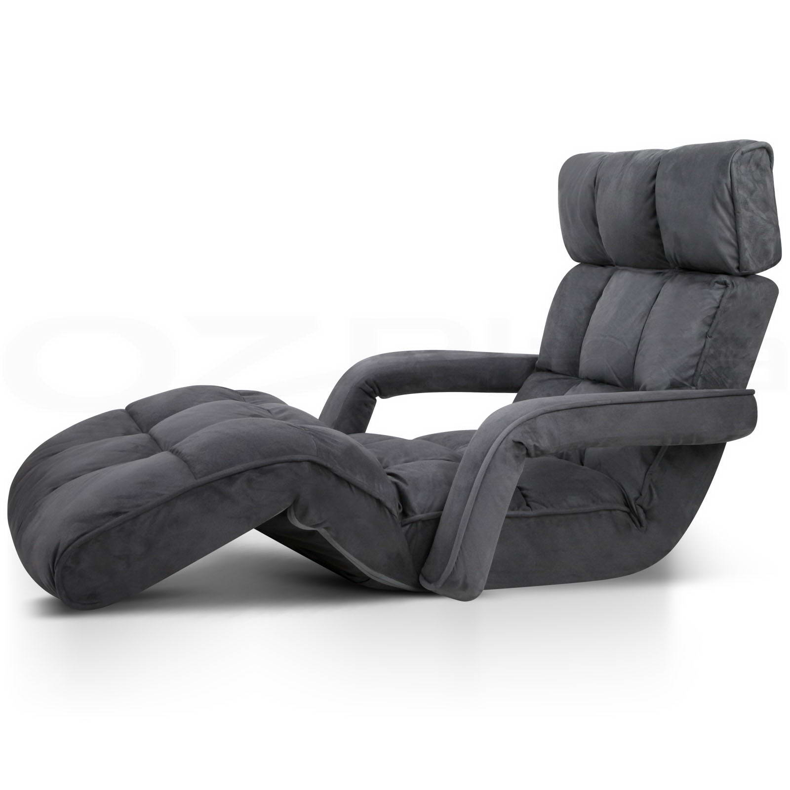 Lounge Sofa Bed Floor Armchair Folding Recliner Chaise Pertaining To Sofa Lounge Chairs (View 15 of 15)