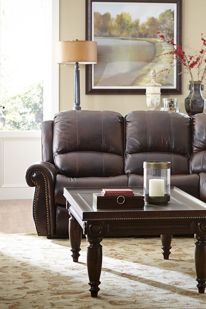 Lounge Whichever Way You Desire With Our Havertys Prestige In Titan Leather Power Reclining Sofas (View 2 of 15)