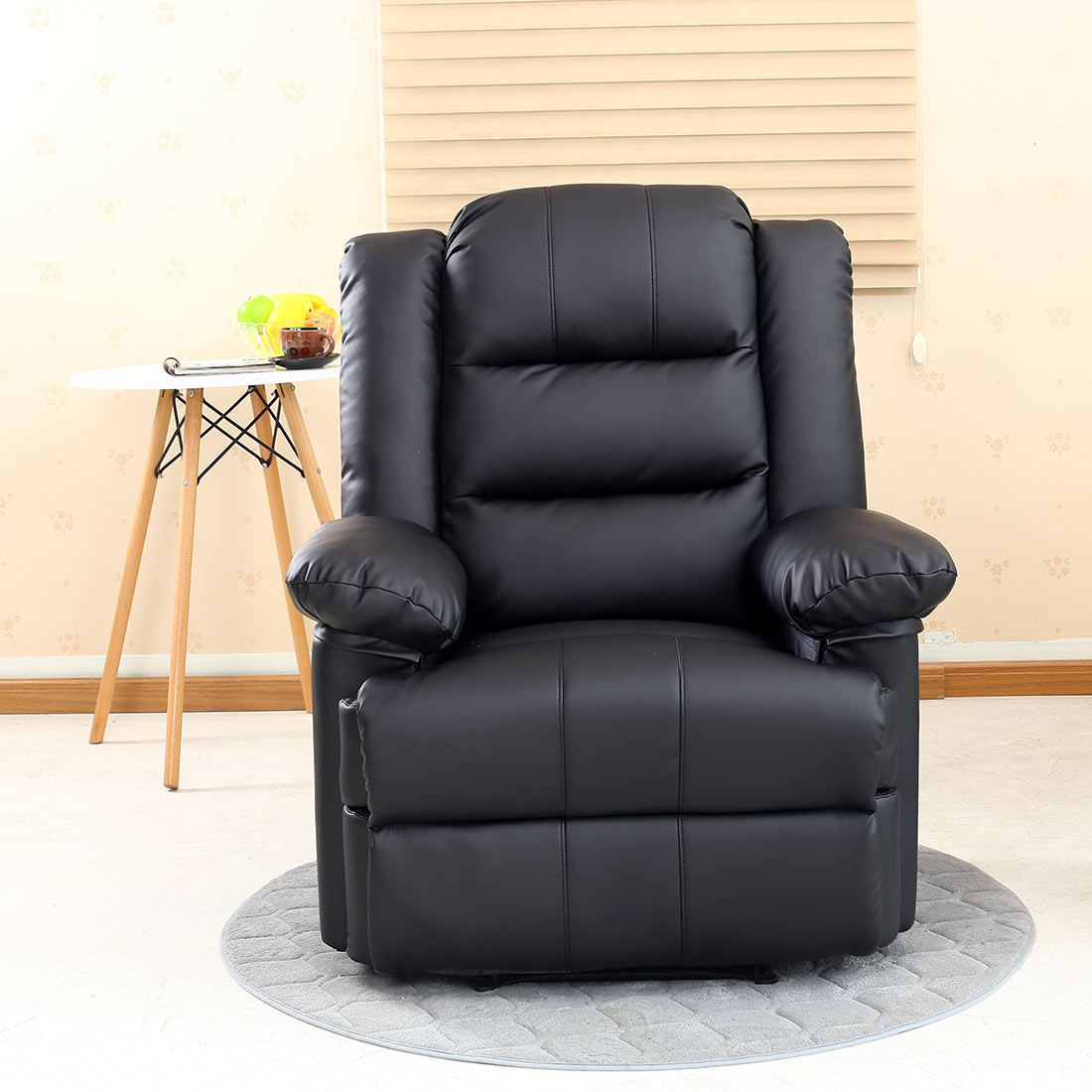 Loxley Leather Recliner Armchair Sofa Home Lounge Chair Pertaining To Sofa Lounge Chairs (View 9 of 15)