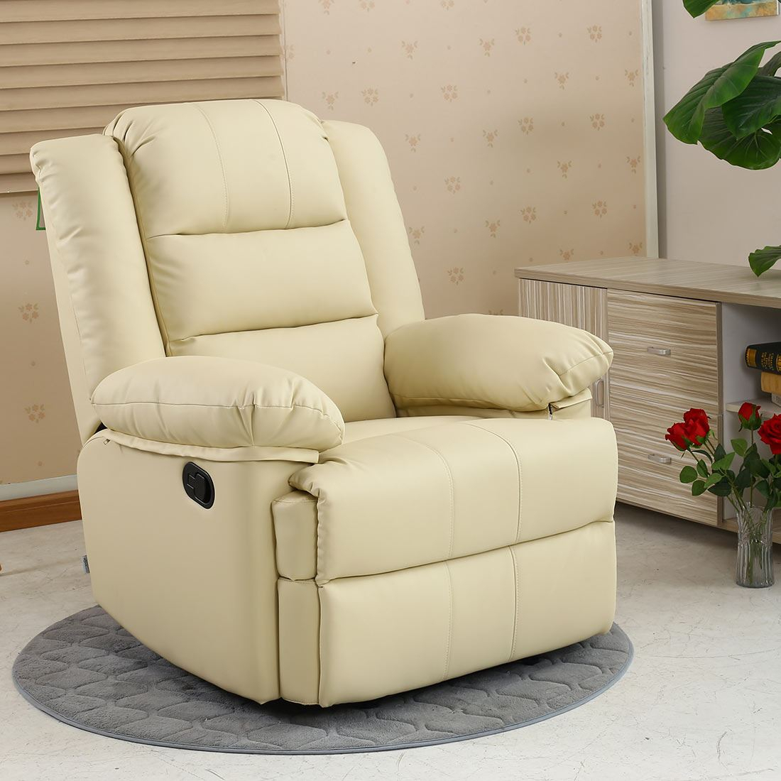 Loxley Leather Recliner Armchair Sofa Home Lounge Chair Within Sofa Lounge Chairs (View 1 of 15)