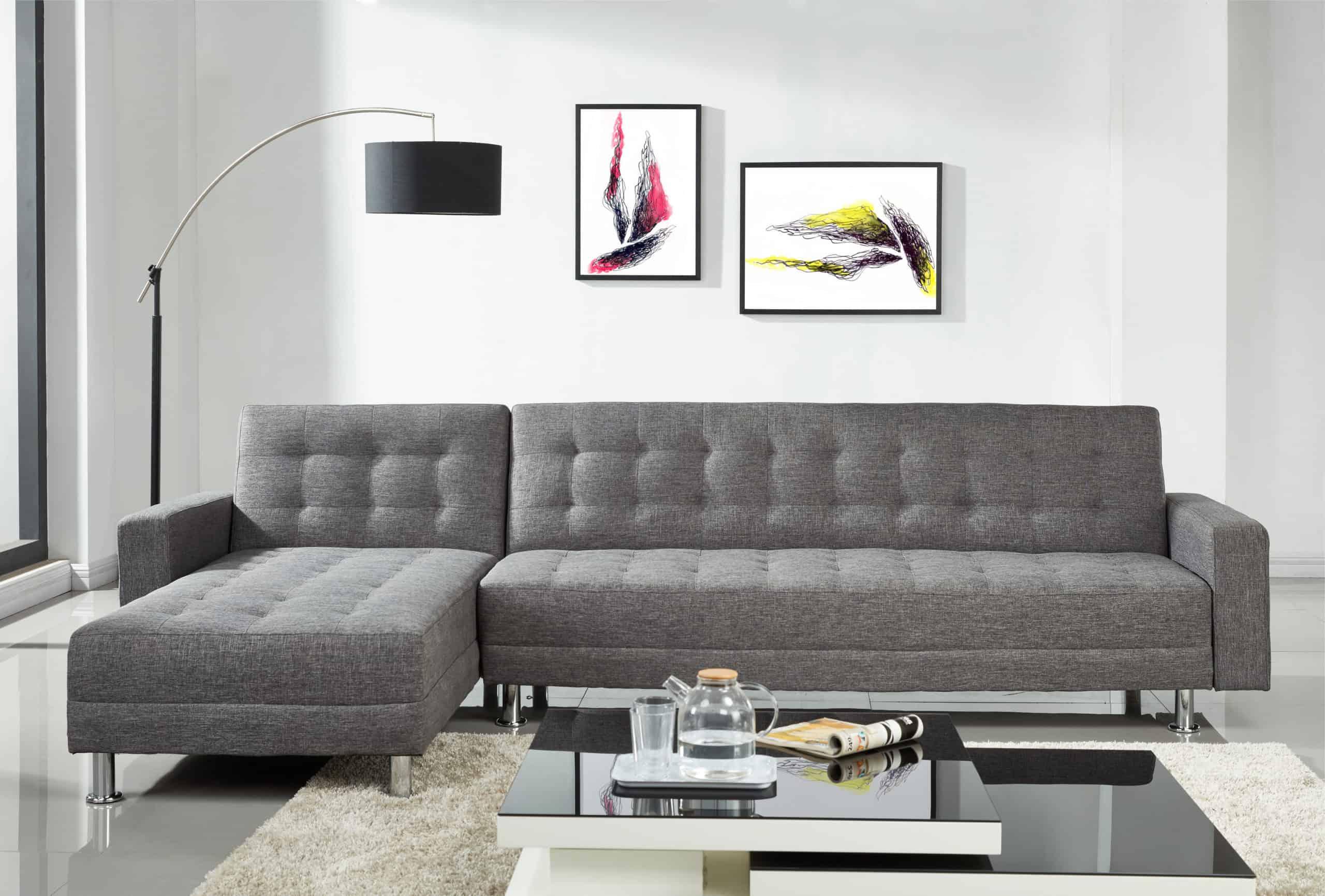 Luxury Full Dark Grey Fabric Sofa Bed — Homemaker Regarding Fancy Sofas (View 11 of 15)