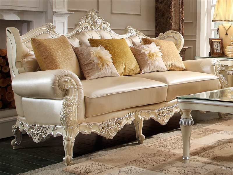 Luxury Leather Traditional Sofa Hd 009   Traditional Sofas Regarding Fancy Sofas (View 15 of 15)
