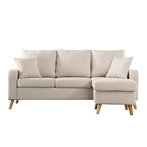 Madison Home Mid Century Modern Small Space Sectional Sofa Pertaining To Verona Mid Century Reversible Sectional Sofas (View 5 of 15)