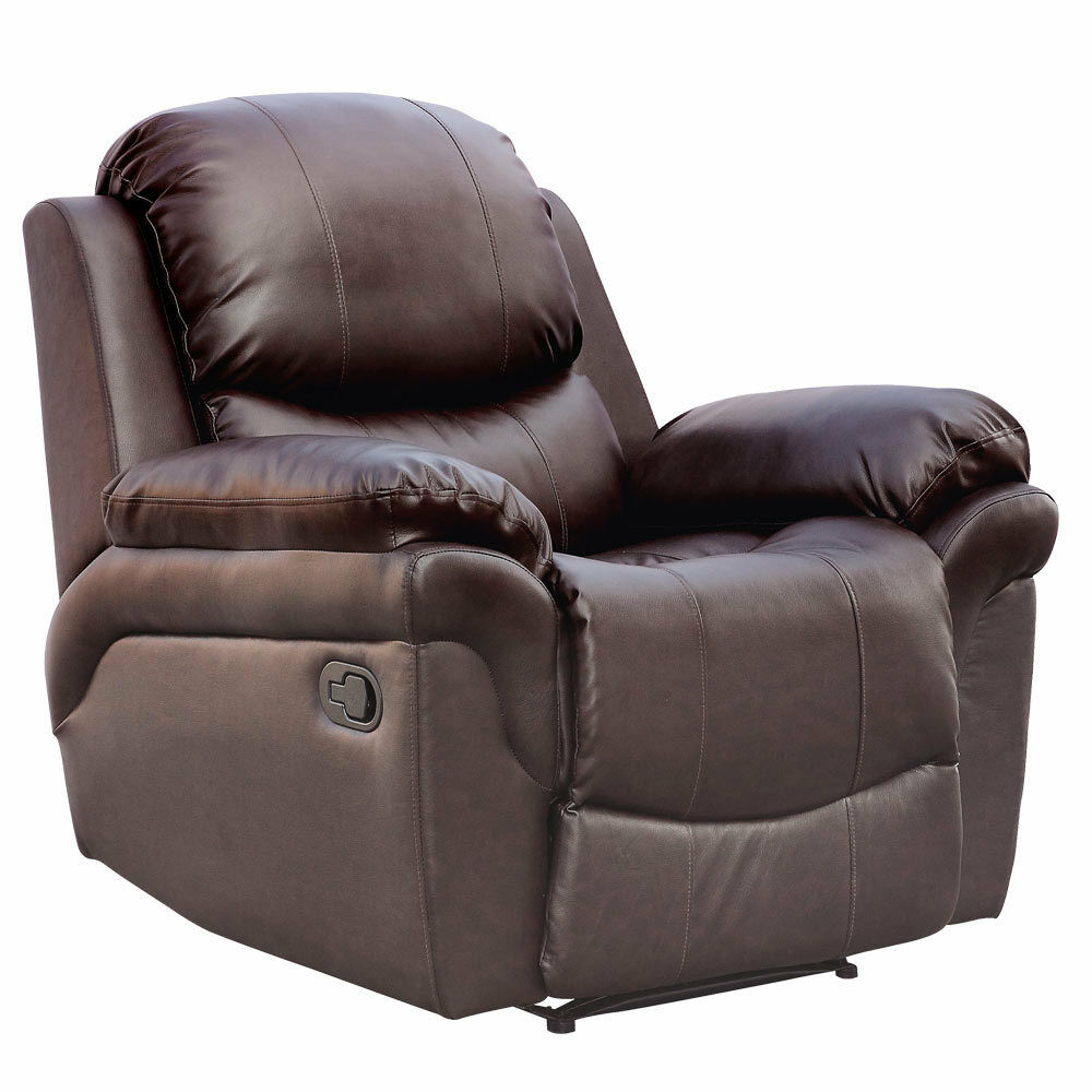 Madison Leather Recliner Armchair Sofa Home Lounge Chair Intended For Sofa Lounge Chairs (View 8 of 15)