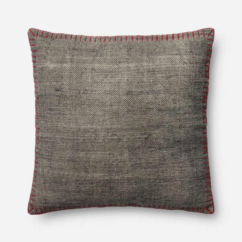Magnolia Home Furniture Gray Throw Pillow With Red Within Magnolia Sectional Sofas With Pillows (View 11 of 15)
