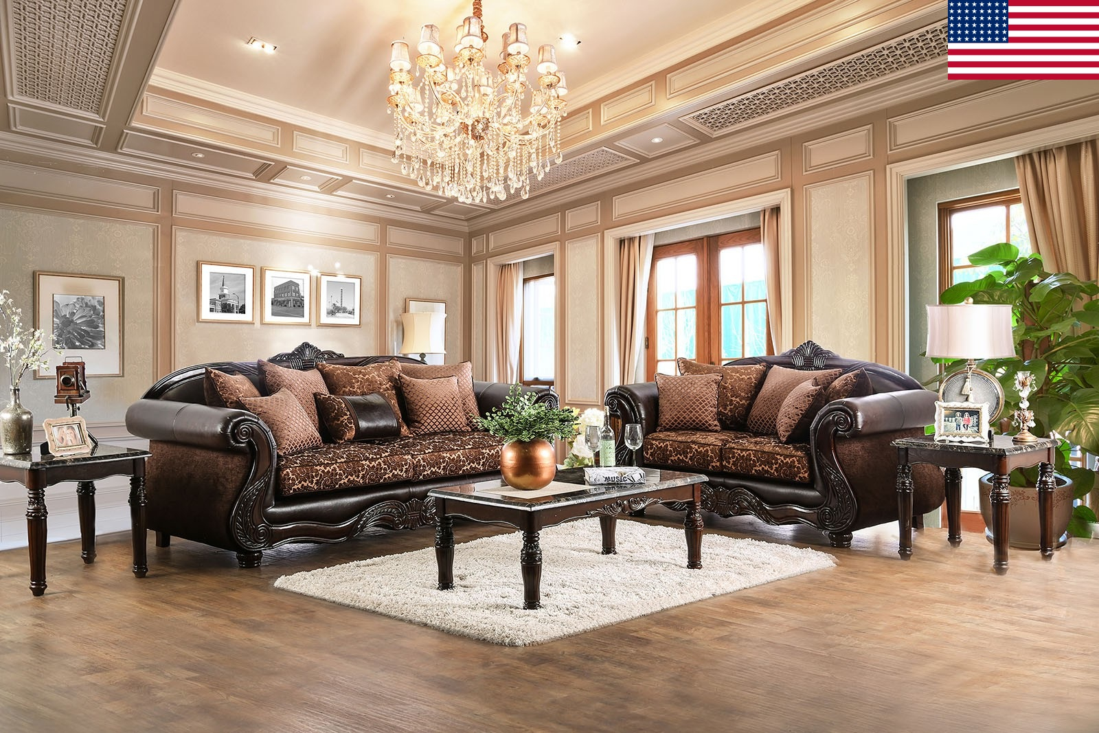 Majestic Royal 2Pc Sofa Set Living Room Furniture Formal With Regard To Sofa Chairs For Living Room (View 15 of 15)