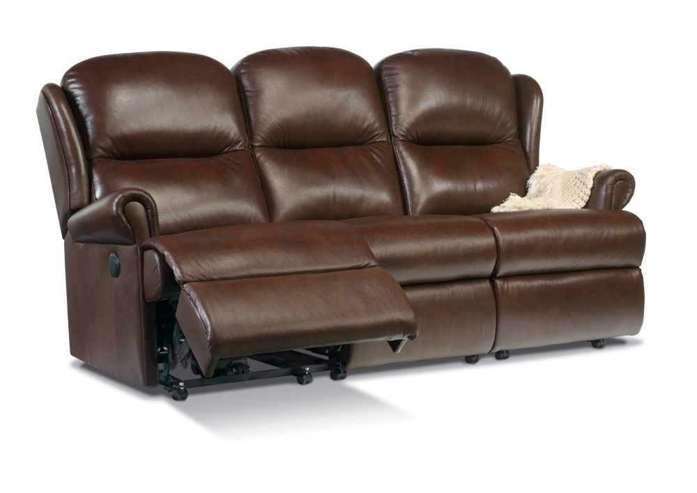 Malavern Standard 3 Seater Manual Recliner Sofa Leather: Old With Manual Reclining Sofas (View 7 of 11)