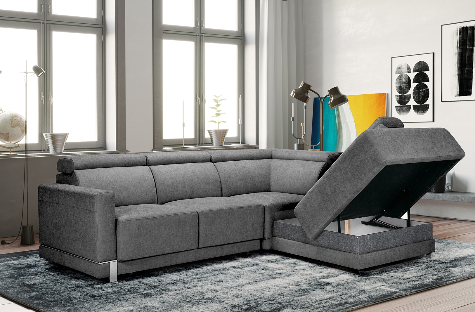 Marburg Sectional Sofa – Nordholtz Furniture Throughout Sectional Sofas (View 1 of 15)