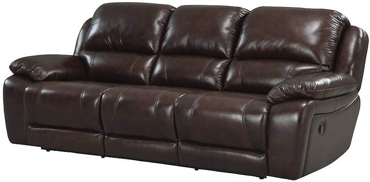 Marco Genuine Leather Power Reclining Sofa – Chocolate For Marco Leather Power Reclining Sofas (View 13 of 15)