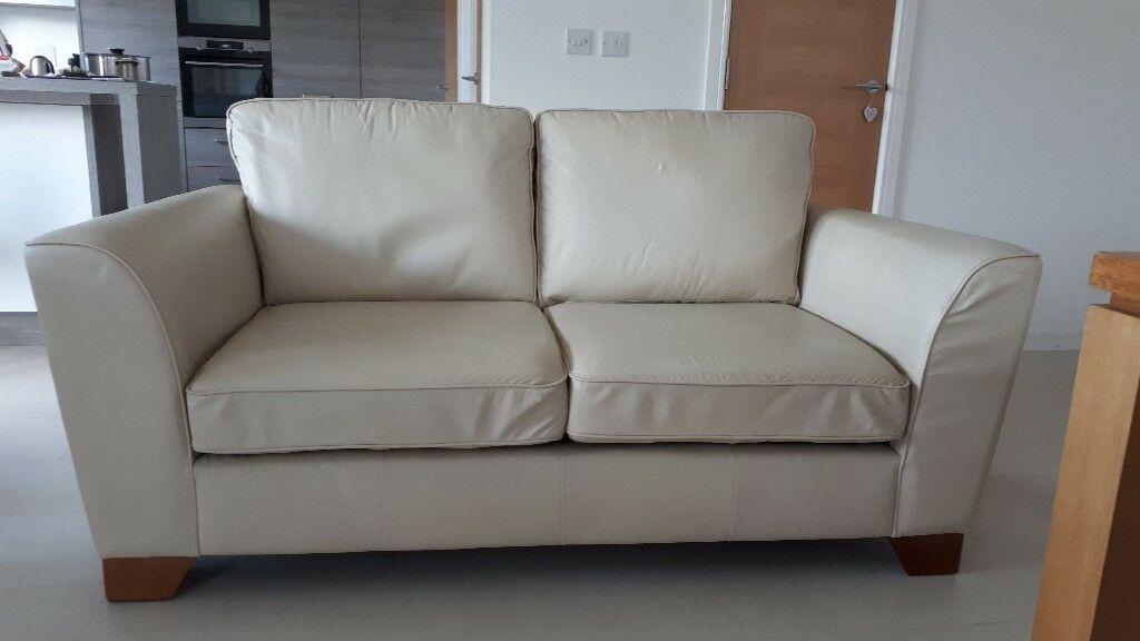 Marks And Spencer Cream Leather Sofa | In Newton Mearns Throughout Marks And Spencer Sofas And Chairs (View 9 of 15)