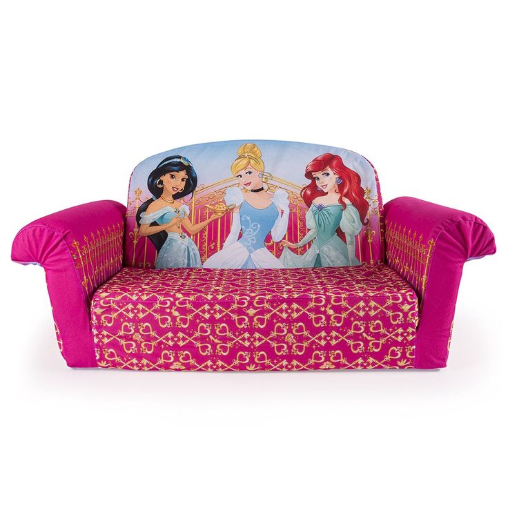 Marshmallow Furniture, Flip Open Sofa, Disney Princess Intended For Disney Sofa Chairs (View 2 of 15)