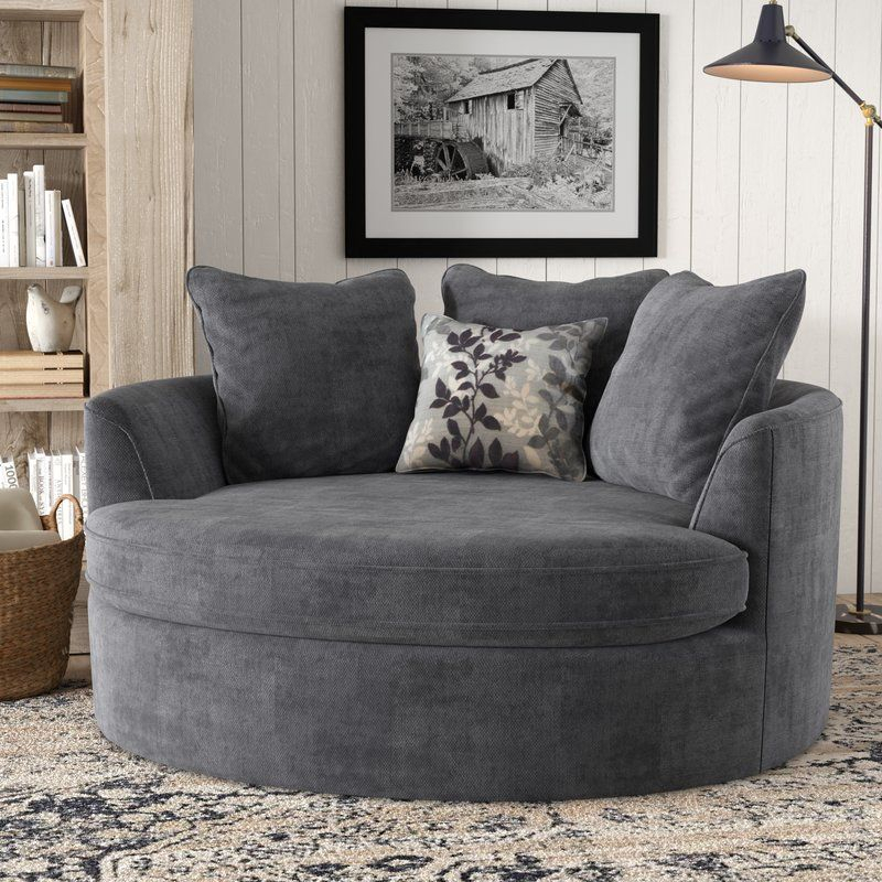 Marta 61'' Wide Barrel Chair | Chair And A Half, Big Comfy Pertaining To Cuddler Swivel Sofa Chairs (View 13 of 15)