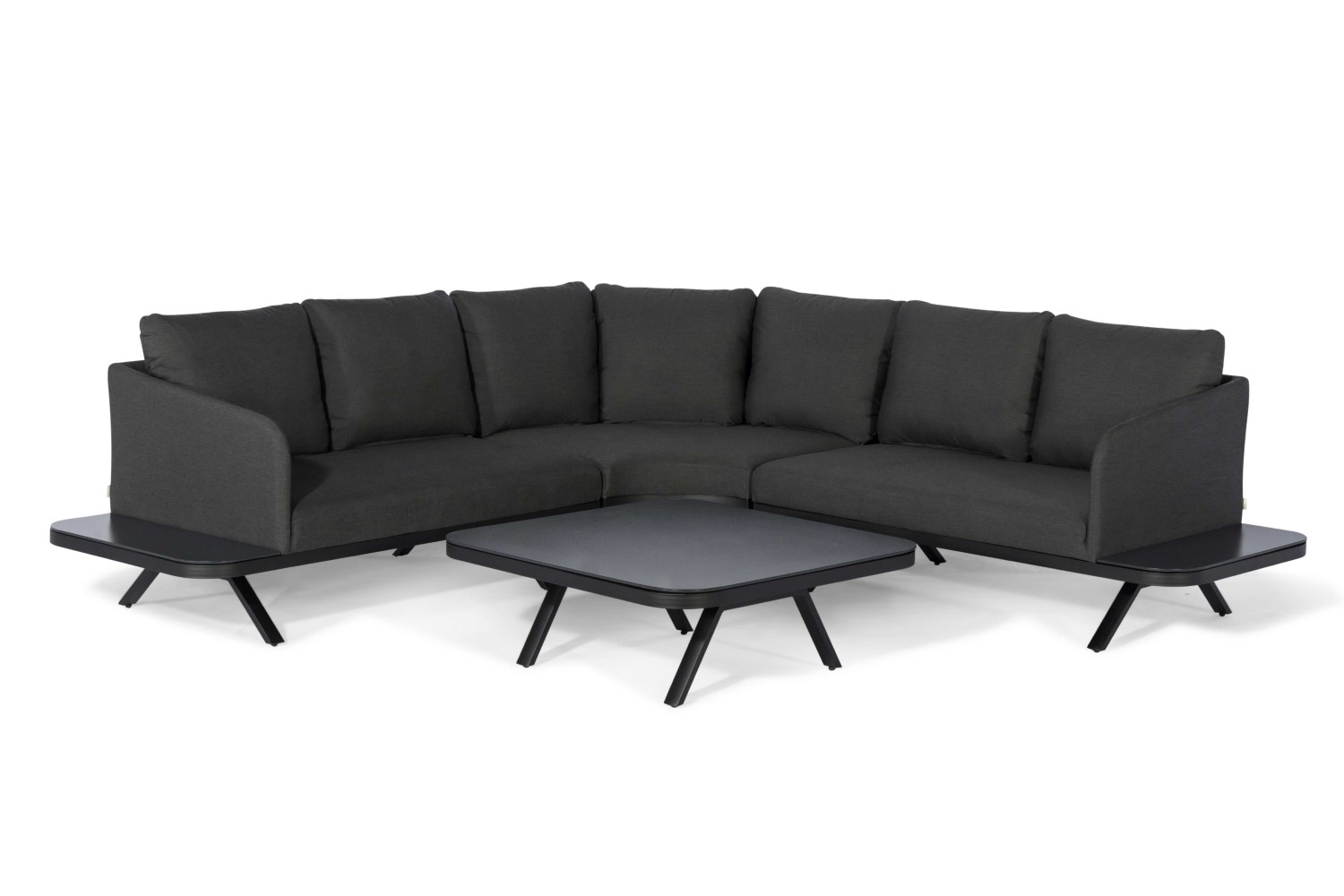Maze Rattan – Cove Corner Sofa Group – Charcoal – Ls Living Throughout Katie Charcoal Sofas (View 8 of 15)