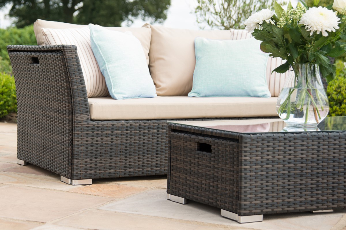 Maze Rattan – Seville Sofa Set – Brown – Ls Living For Lounge Sofas And Chairs (View 10 of 15)