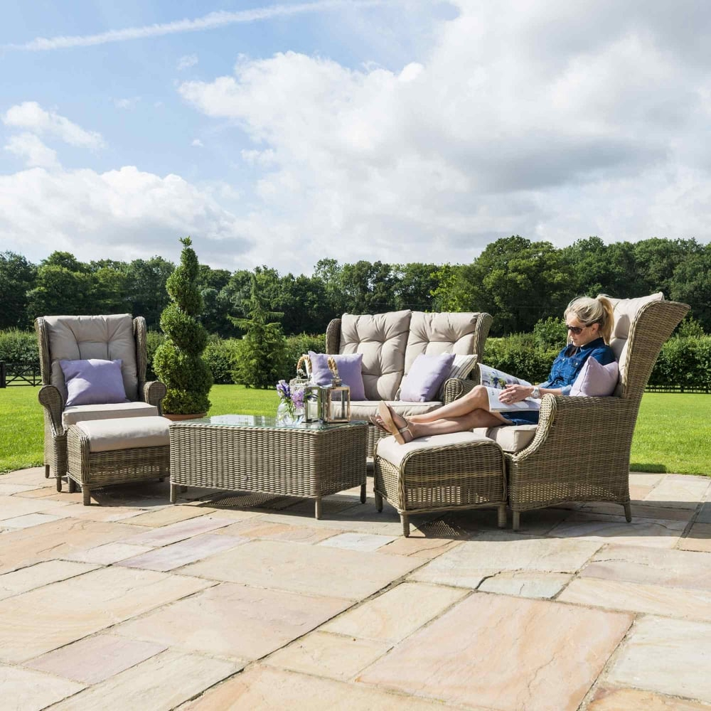 Maze Rattan Winchester High Back 6 Piece Sofa Set Pertaining To Sofas With High Backs (View 9 of 15)