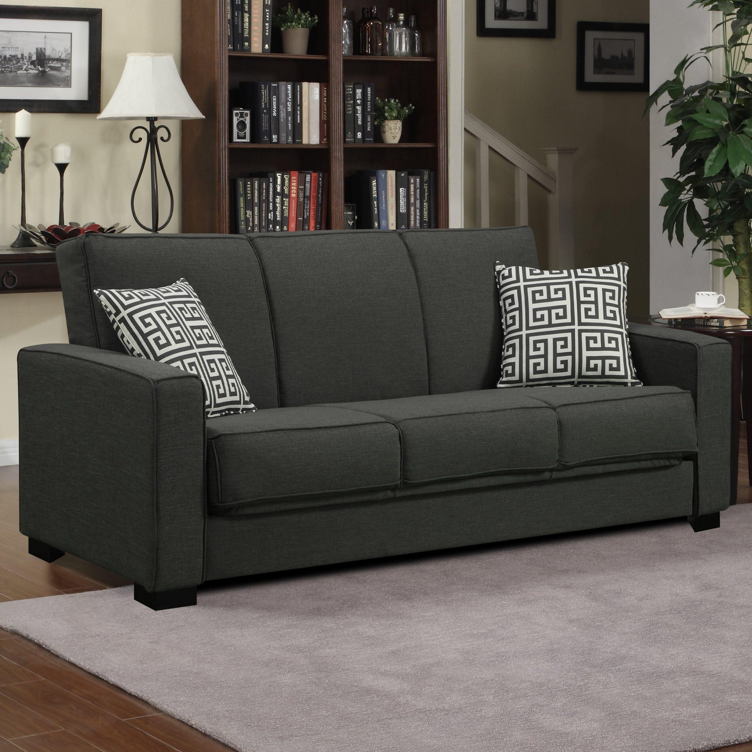 Mercury Row Athena Convertible Sleeper Sofa & Reviews With Regard To Convertible Sectional Sofas (View 9 of 15)