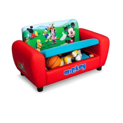 Mickey Mouse Toddlers' Sofa Disney Upholstered Couch W Inside Disney Sofa Chairs (View 15 of 15)