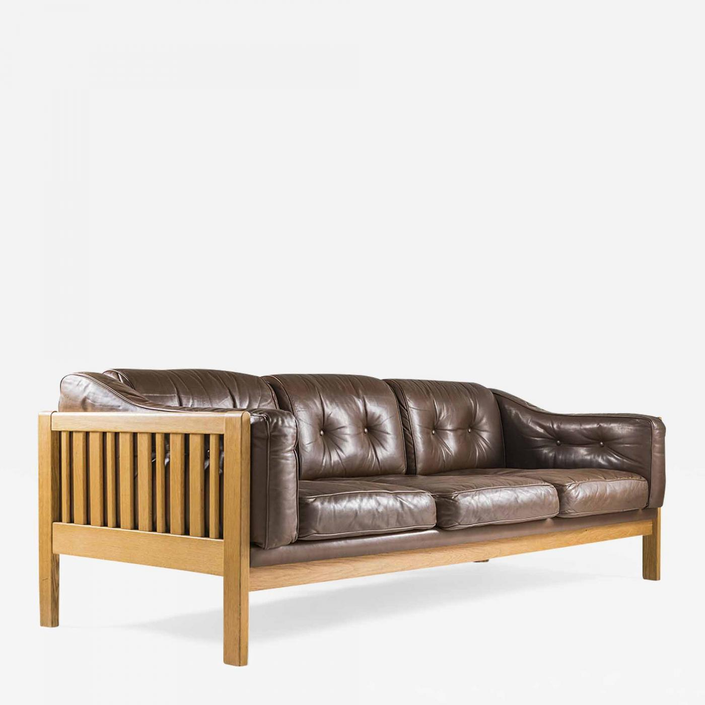 Mid Century Couch Leather Intended For Florence Mid Century Modern Right Sectional Sofas Cognac Tan (View 9 of 15)