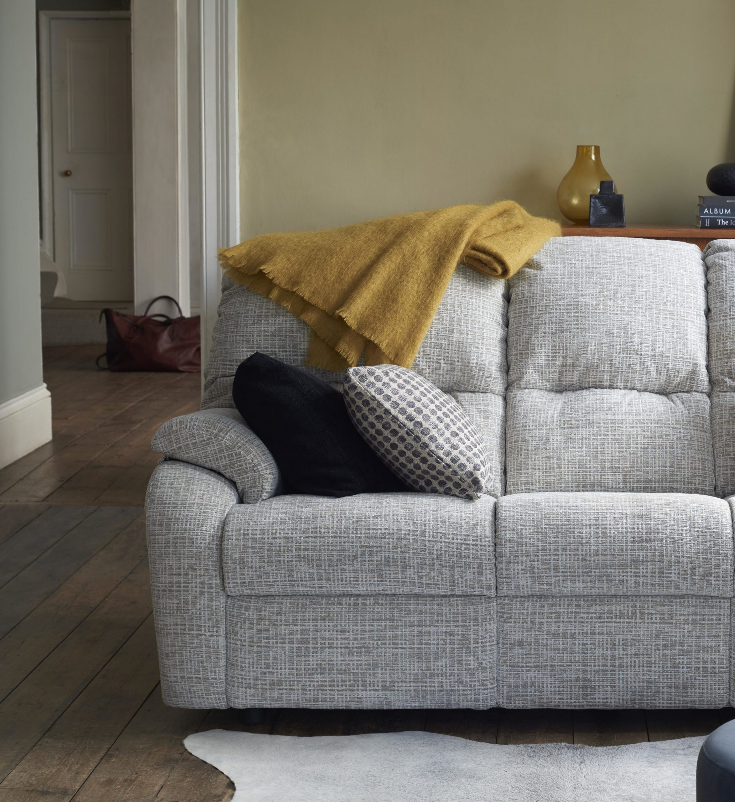 Mistral Small 3 Str 3 Cushion Recliner Sofa Double • Peter Intended For Small Sofas And Chairs (View 4 of 15)
