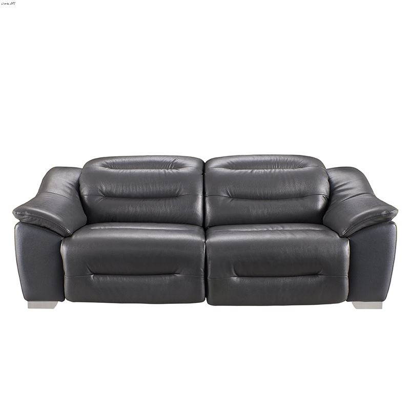 Modern 972 Dark Grey Leather Power Reclining Sofaesf Intended For Pacifica Gray Power Reclining Sofas (View 9 of 15)