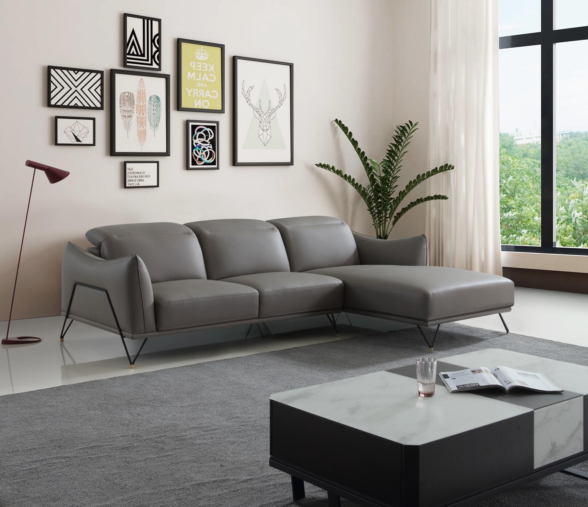Modern Corner Sofa – Joy Furniture Regarding Contemporary Sofas And Chairs (View 1 of 15)