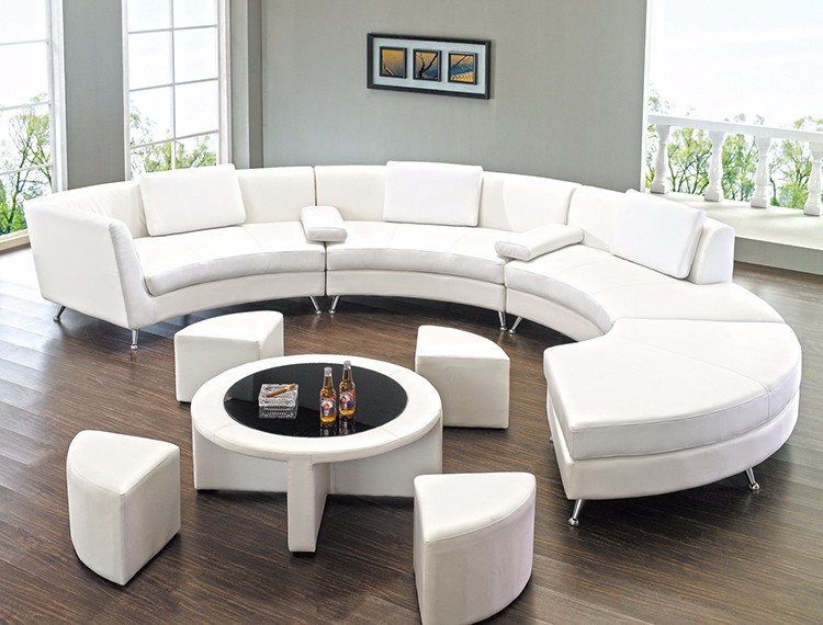 Modern Design European Sectional Curved C Shaped Genuine Regarding C Shaped Sofas (View 7 of 15)