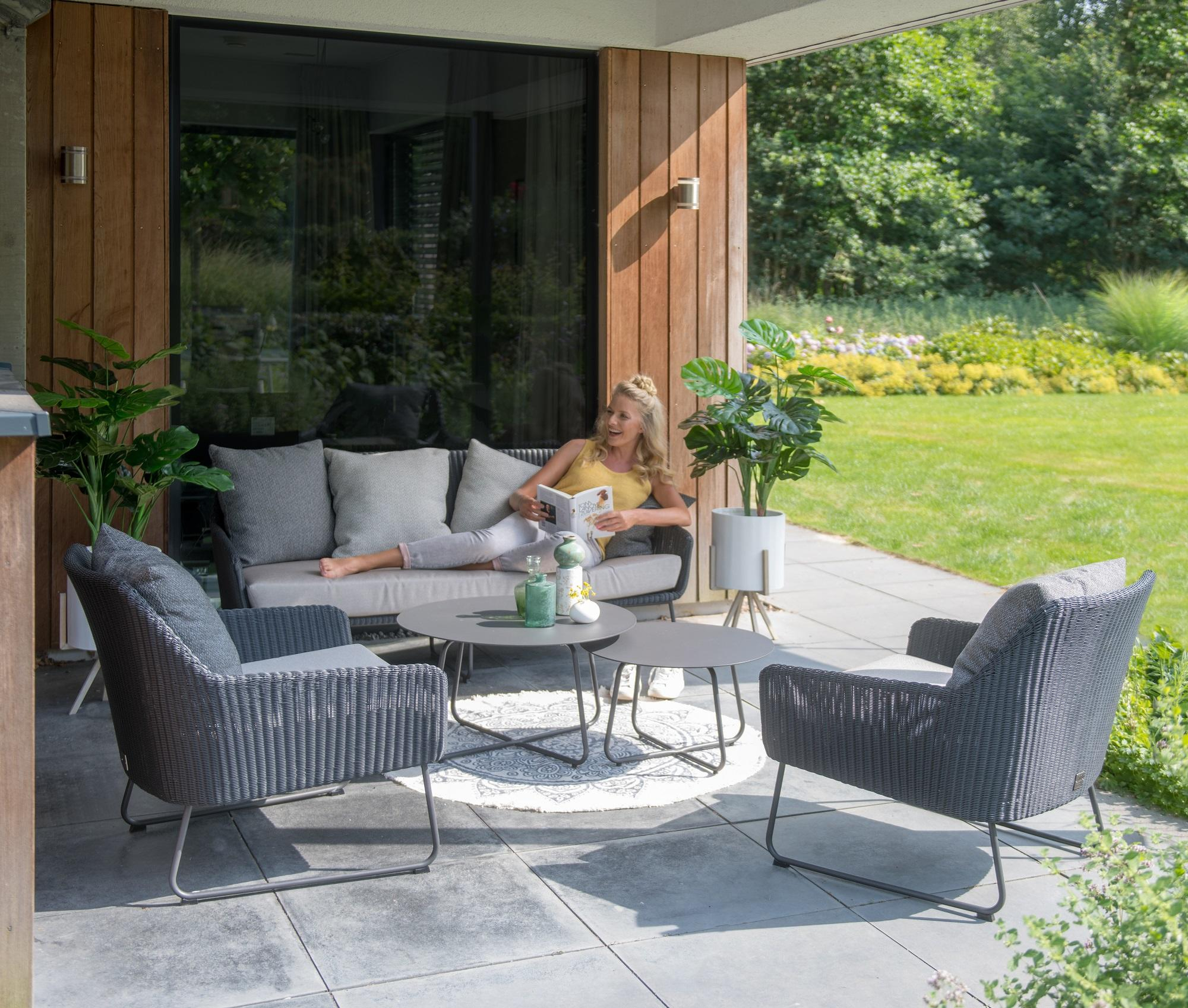 Modern Garden Rattan Sofa & Armchairs Lounge Set With Inside Outdoor Sofas And Chairs (View 13 of 15)